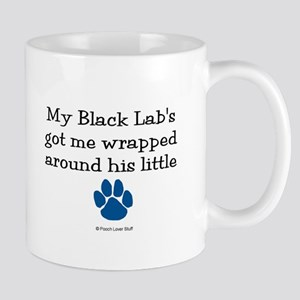 Wrapped Around His Paw (Black Lab) Mug